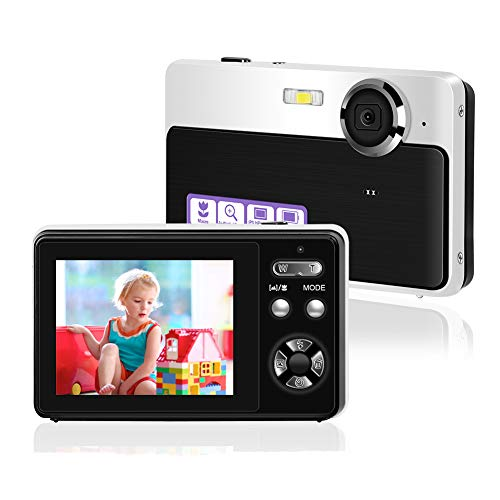 Appareil Photo Numérique Mini Caméra Vidéo Point and Shoot Camera 2.4inch 24MP HD Vlogging Camera Compact and Portable Selfie Camera Compact et Portable Selfie