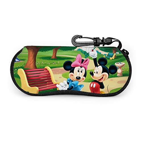 Mickey Minnie Mouse - Funda para gafas de sol portátil con cremallera de viaje