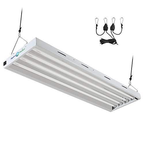 HYDRO PLANET T5 Grow Lights 4 Feet 4 Bulbs Fixture with Fluorescent HO Bulbs 6500K | Indoor Plant Lights | Plant Grow Light (4-Ft 4-Lamp)