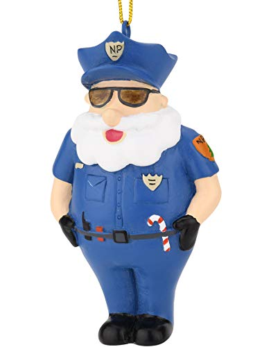 Tree Buddees NPPD Santa - North Pole Police Department Officer Christmas Ornaments