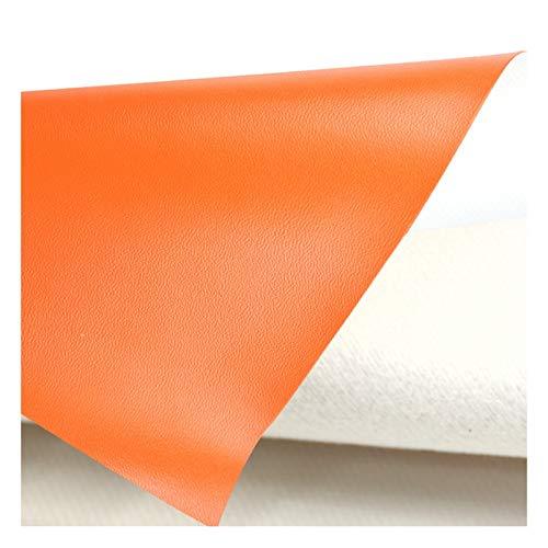 MAGFYLY lädertyg rulle fuskläder klädsel tyg, konstläder för soffa stol bagage bakgrund väggdekoration 137 x 91 cm – orange