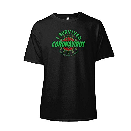 I Survived Córonavirus Cóvid-19 Pandemic 2020 Classic T-Shirt Graphic Trending Unisex Youth Shirt For Men Tee Women Aldult T-Shirt Casual Cute Simple