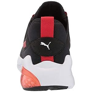 PUMA Men's Cell Vive Running Shoe, Black-High Risk Red, 8.5
