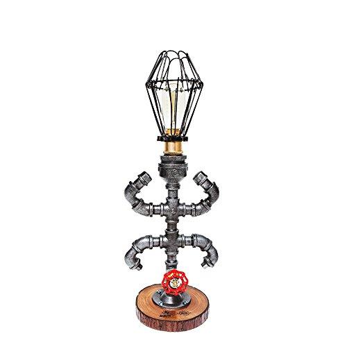 TOYM UK Lampe de table imperméable à l'eau créative chambre à coucher chambre de chevet table de chevet en bois