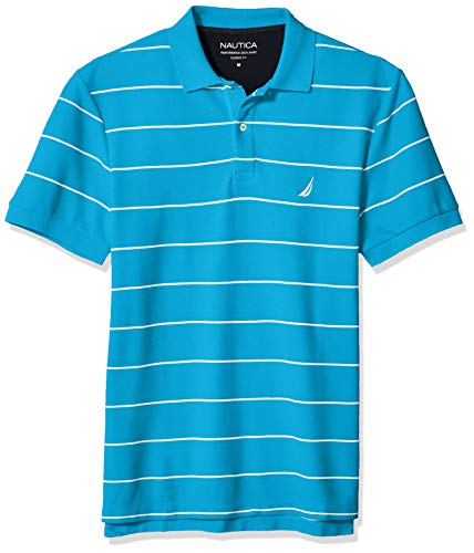 Nautica Herren Stripe Deck Anchor Polo Poloshirt, Hawaii-Ozeanblau, XX-Large