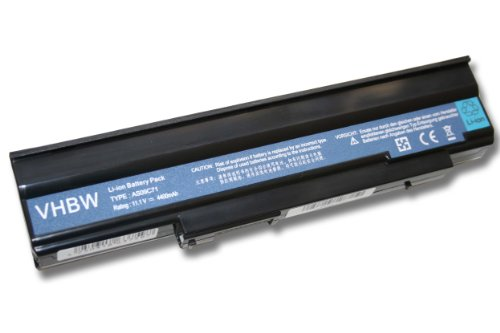 vhbw Battery replacement for Acer AS09C31, AS09C70, AS09C71, AS09C75, BT.00603.078, BT.00603.093 for Laptop (4400mAh, 11.1V, Li-Ion, black)