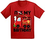 Awkward Styles Toy Truck Infant Shirt First Birthday Boy Gifts 1st B-Day Party (12M, Birthday Firefighter)