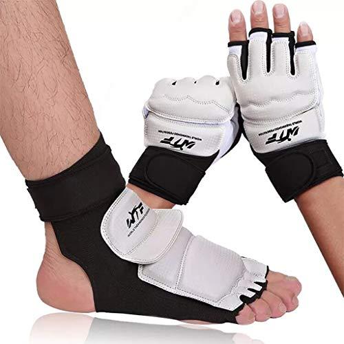 LIfav Taekwondo-Schutzausrüstung, Taekwondo-Handschuhe/Fußbedeckungen, Erwachsene Kinder Sparring Hand Palm Fußschutz Wrestle Radfahren Boxhandschuhe Karate Kampf,L (Height 150 to 170CM)
