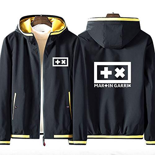 73HA73 Sudadera con Capucha y Cremallera Completa para DJ Martin Garrix GRX Coat Jacket Sudadera Deportiva Cómoda de Manga Larga Unisex (No Shirt)