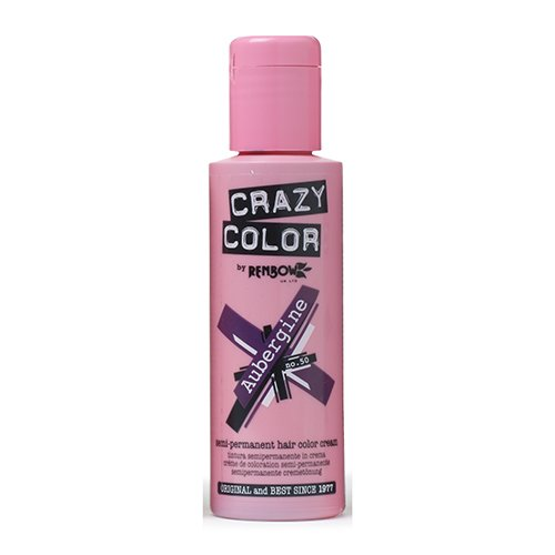 Crazy Color Aubergine Nº 50 Crema Colorante del Cabello Semi-permanente