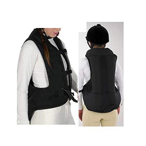 Chaleco Con Airbag Para Niños Ropa Protectora De Equipo Knight Dispositivo De Activación De Airbag Oculto Para Evitar La Erosión Por Lluvia Sin Cilindro De CO2 (Color : Black, Size : XX-Large)