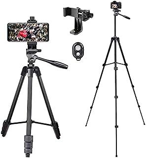 Veasion Mobiel Statief 140 cm(55inch)camera statief voor iphone, statief voor mobiele telefoon en Bluetooth afstandsbedien...