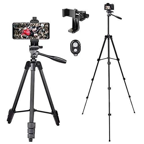 Trípode para moviles y Camara, trípode para cámara tripode para movil Extensible 140 cm(55