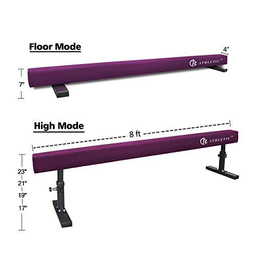 JC-ATHLETICS Adjustable Balance Beam Gymnastic Practice Training Equipment for Kids Children Home Floor Use,8 Feet Long