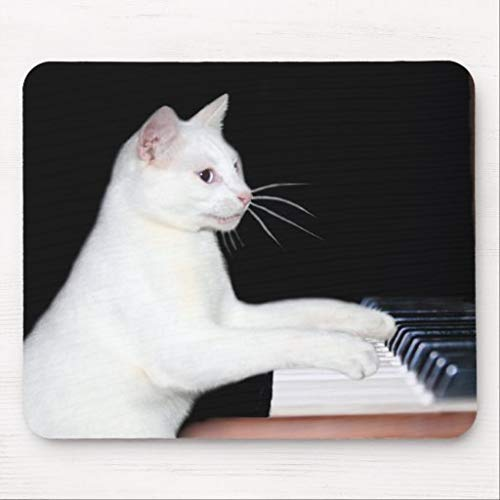 Piano Playing cat Mouse pad, Anti Slip Mouse Mat for Desktops, Computer, PC and laptops, Rectangle Mouse Pad for Office and Home
