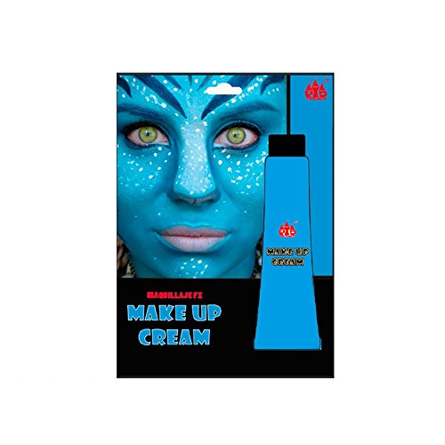 Maquillaje Crema Azul Tubo 28 ml Pinturas Carnaval