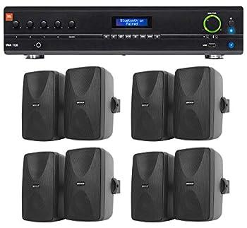 JBL VMA1120 Commercial/Restaurant 70v Bluetooth Mixer/Amplifier+8  Wall Speakers