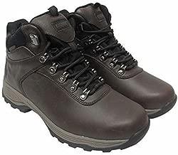 Khombu Men's Leather Boot Brown Hiker Ravine Waterproof (8)