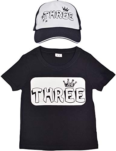 3rd Birthday Shirt Boy, 3 year old Birthday Party, I am three, Three Year Old Birthday Shirt Boy, Truker Hat for Kids with Three years old, Happy 3rd Birthday Shirt with Three Pattern Print, Perfect G