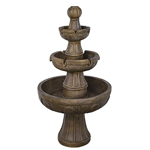 Bond Manufacturing Y97016 Napa Valley Fountain, 45H 25W 25D, Stone Look