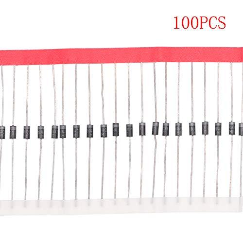 HUABAN 100PCS 1N4007 Rectifier Diode 1A 1000V DO-41 (DO-204AL) Axial 4007 1 Amp 1000 Volt
