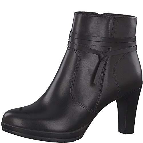 Tamaris Damen Stiefeletten, Frauen Ankle Boots, knöchelhoch reißverschluss weiblich Lady Ladies Women's Women Woman Abend,Black Uni,41 EU / 7.5 UK