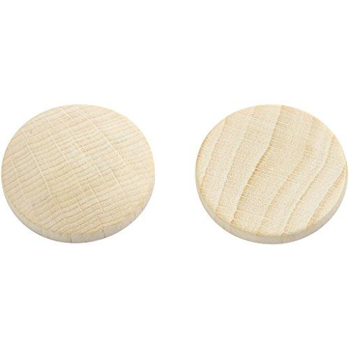 Creativ Company Boutons en bois, 25 mm, margousier, 15 pièce