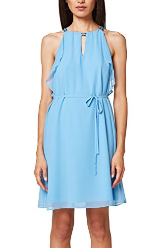 ESPRIT Collection Damen 048EO1E018 Kleid, Blau (Blue 430), 42