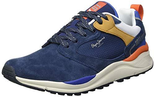Pepe Jeans Herren Trail Light URBAN Sneaker, 595NAVY,45 EU