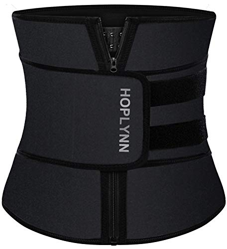 HOPLYNN Neoprene Sweat Waist Trainer Corset Trimmer Belt for Women Weight Loss, Waist Cincher Shaper Slimmer Black XX-Large 03