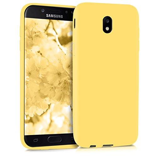 kwmobile Funda Compatible con Samsung Galaxy J5 (2017) DUOS - Carcasa de TPU Silicona - Protector Trasero en Amarillo Mate