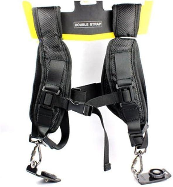 Correa doble para hombro para cámaras réflex digitales Canon Nikon Sony
