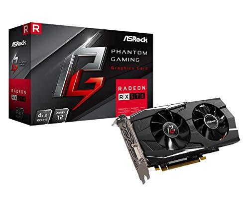 Asrock 90-GA0K00-00UANF - Tarjeta gráfica (Radeon RX 570, 4 GB, GDDR5, 256 bit, 2560 x 1600 Pixeles, PCI Express x16 3.0), Negro