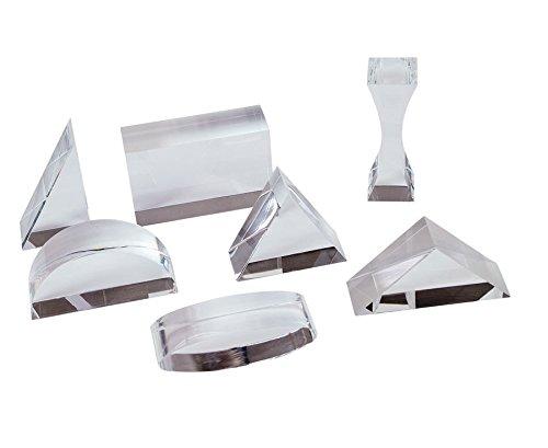 Betzold 83332 - Acryl Prismen für Optik Experimente - 7 versch. Prismen aus lupenreinem Acrylglas, inkl. Box