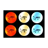 Night Eagle CV LED Golf Balls - Light Activated - No Timer - 6 Pack (2 x Red, 2 x White, 2 x Blue)