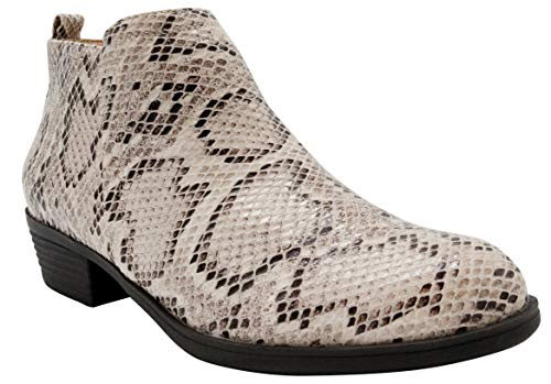 Sugar Damen Stiefelette Truffle Ankle Bootie mit seitlichem Reißverschluss, Mehrfarbig (Schlange), 37.5 EU