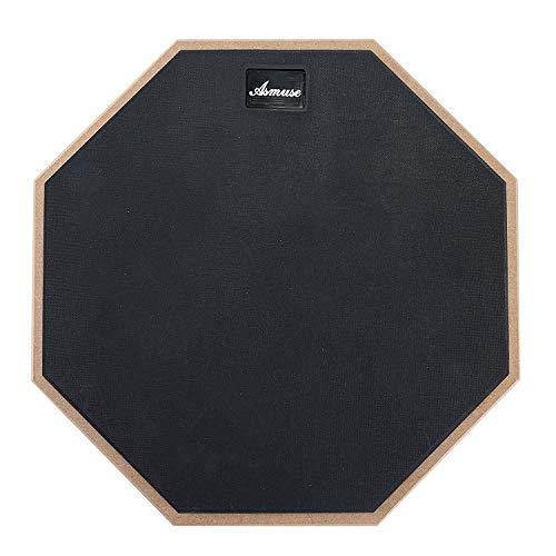 Drum Pad üben Asmuse Übungspad Schlagzeug 12 Zoll Practice Drum Pad für Übe das Trommeln Schwarz