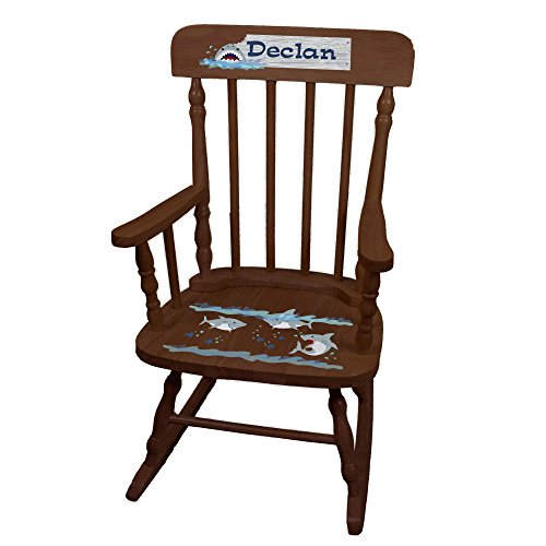 MyBambino Personalized Shark Tank Espresso Childrens Rocking Chair