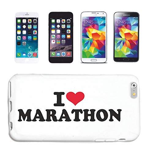 Reifen-Markt Funda para iPhone 6, diseño con texto 'I Love Marathon Jogging Running Running Triatlón'