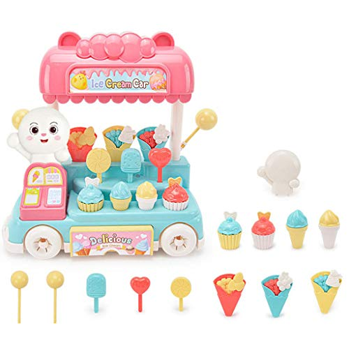 JOYKK Candy Ice Cream Snack Auto Spielset Kit Lichter und Geräusche Kinder geben vor, Spielset
