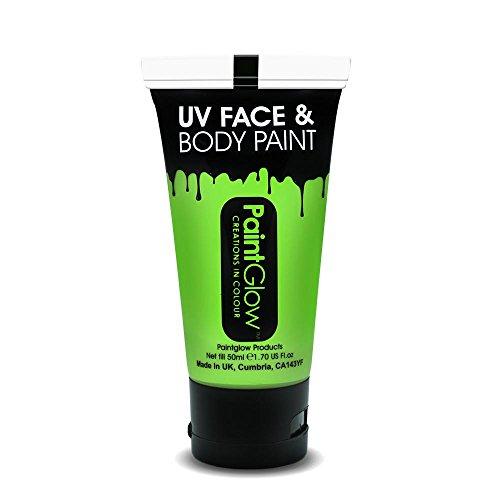 PaintGlow - AA1B02 - Peinture UV Corps et Visage 50 ml Neon Green