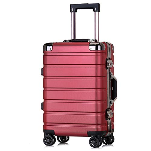 Adlereyire Trolley Suitcase Lightweight Durable Carry On Cabin Hand Luggage Set, Travel Bag with 4 Wheels (Color : Red, Size : 41 * 26 * 64cm)
