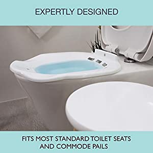 Soothic Sitz Bath for Toilet Seat, Postpartum Care, Yeast Infection, or Hemorrhoid Treatment, Yoni Steam Seat, Universal Fit, Oval, Oblong or Elongated Toilets