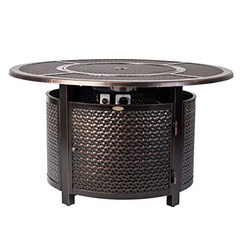 Read About Round Aluminum Lpg Fire Pit - N/a Multi Color Bronze Finish