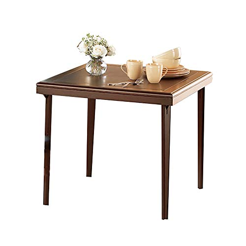 MXueei Bureau d'ordinateur ZfgG Simple Pliante Table en Bois Petit Appartement Table à Manger en Plein air Portable Table carrée Maison Jardin pelouse Table Pliante