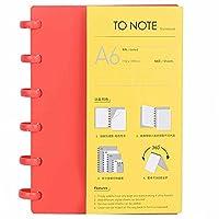 事務用品、筆記具、学校の日常生活のためのA6紙(Checkered (red))