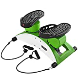 CMrtew Mute Hydraulic Handrail Stepper Home Multi-Function Pedal Mini Mountain Climbing Weight Loss Slimming Exercise Pedal Equipment(Ship from USA) (White)