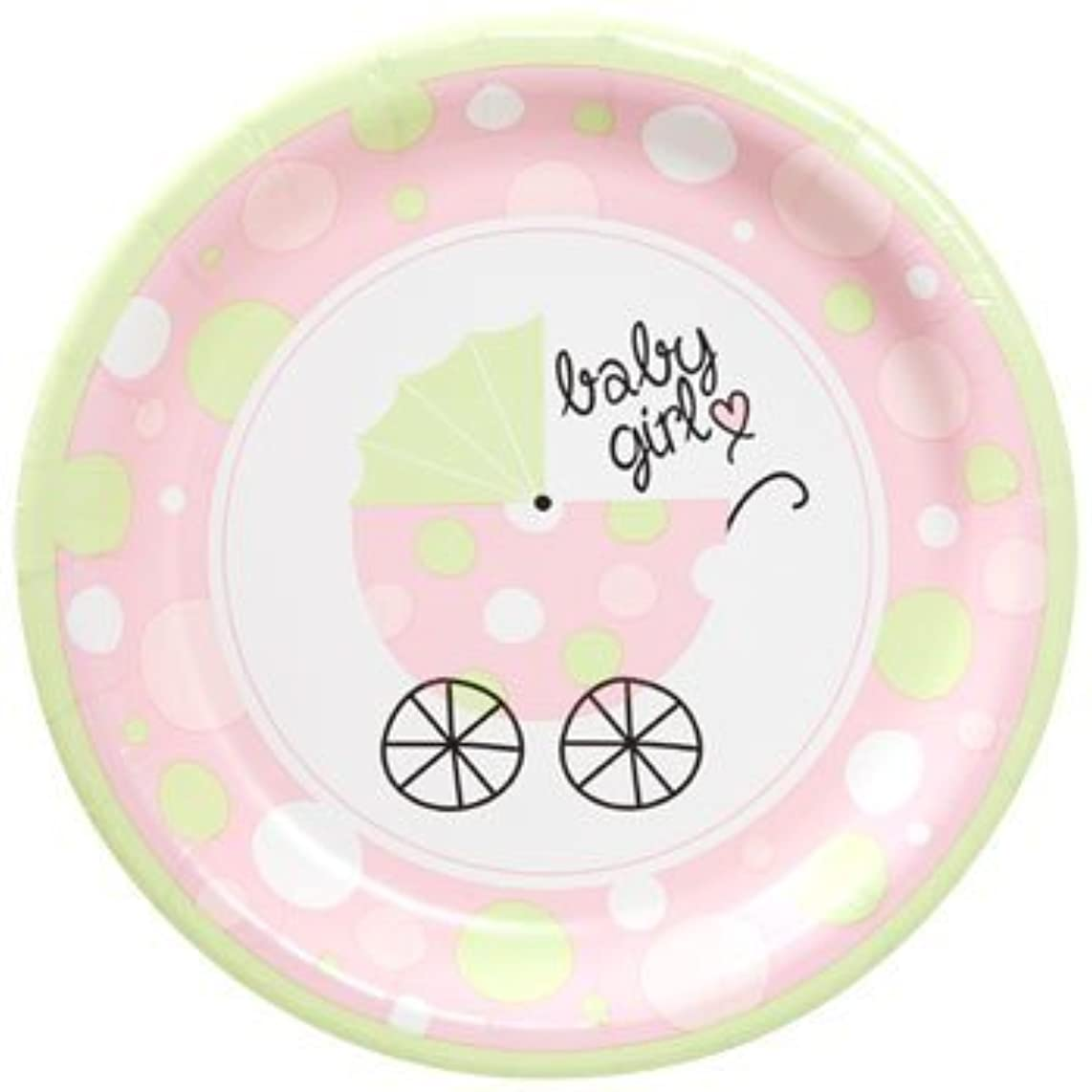 Baby Shower Paper Plates - Pink Girl - 36 Plates