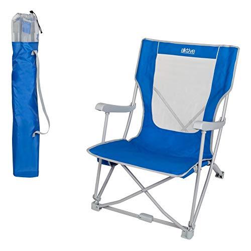 AKTIVE Silla Pescador reclinable para Camping, 59 x 67 x 79 cm, 52838