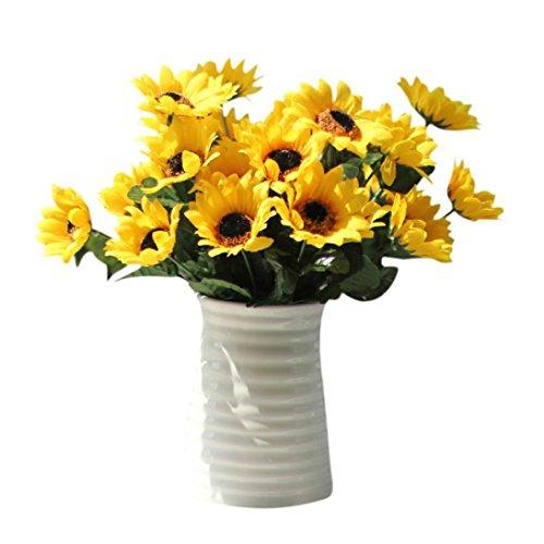 Wohnaccessoires & Deko Kunstblumen 14 Köpfe Sonnenblume Blume Bouquet Floral Garden Home Decor Blumen Sunday (Gelb)